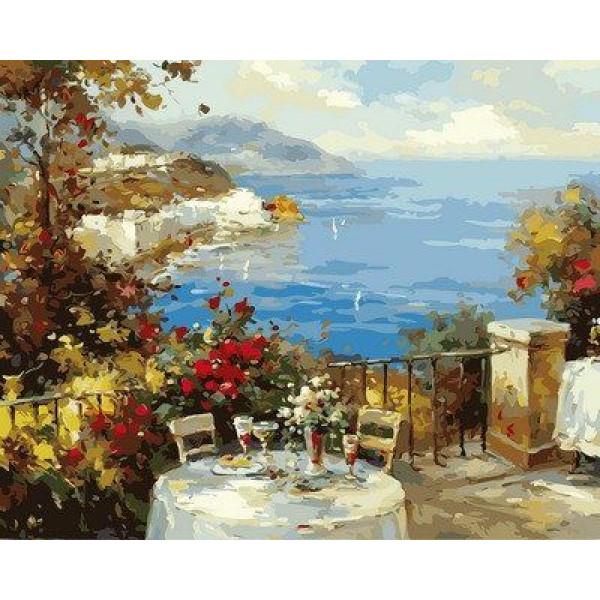 "Картина по номерам ""Завтрак на террассе"""