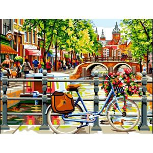 """Картина по номерам """"Амстердам. На берегу канала"""""""