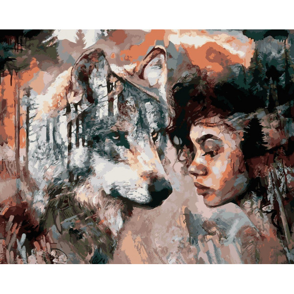 "Картина по номерам ""Душа волка"""