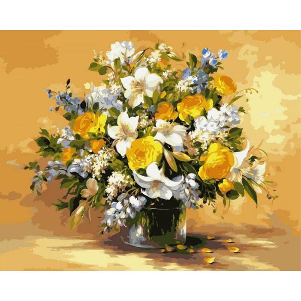 """Картина по номерам """"Безупречная красота цветов"""""""