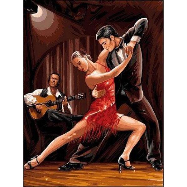 """Картина по номерам """"В ритме танго"""""""