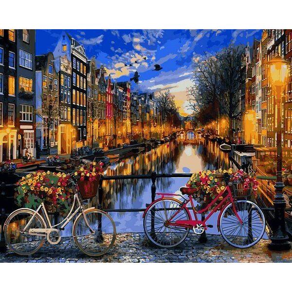 "Картина по номерам ""Вечерний Амстердам"""