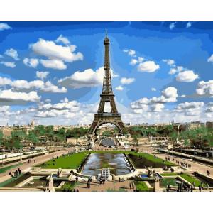 "Картина по номерам ""Эйфелева башня весной"""