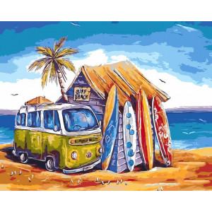 """Картина по номерам """"Гавайские каникулы"""""""