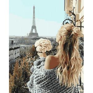 "Картина по номерам ""Красотка в Париже"""