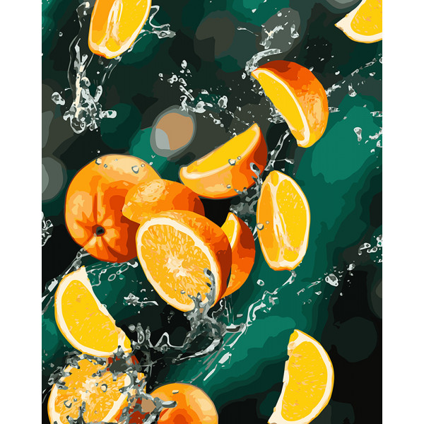"""Картина по номерам """"Апельсины"""""""