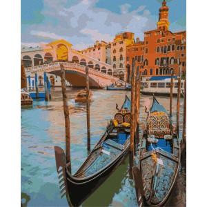 """Картина по номерам """"Лодки Венеции"""""""