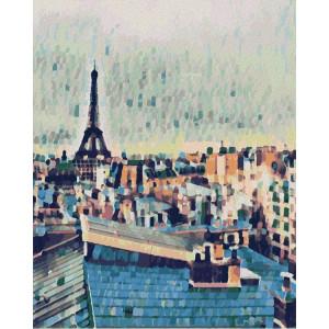 """Картина по номерам """"Крыши Парижа"""""""