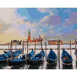 """Картина по номерам """"Лодки на отдыхе"""""""