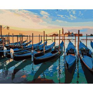 """Картина по номерам """"Вечерние лодки"""""""