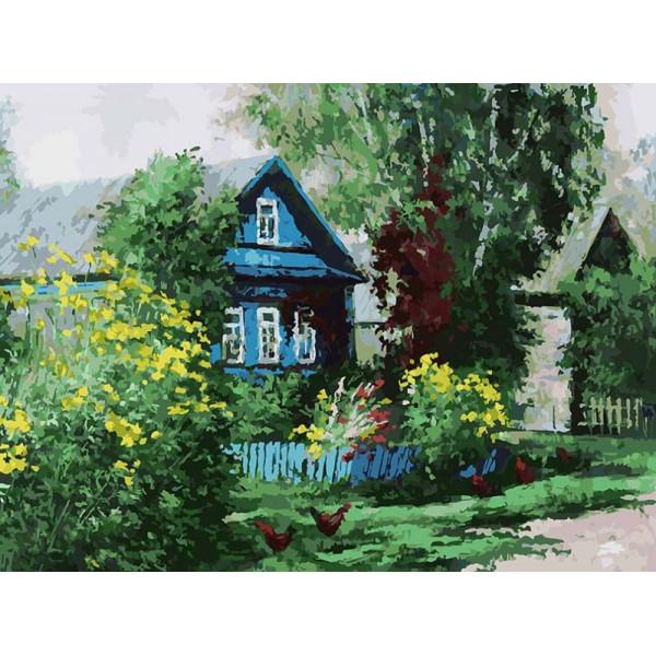 """Картина по номерам """"Домик в деревне"""""""