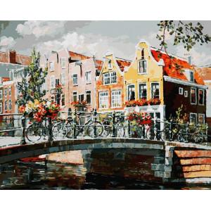"Картина по номерам ""Амстердам. Мост через канал"""