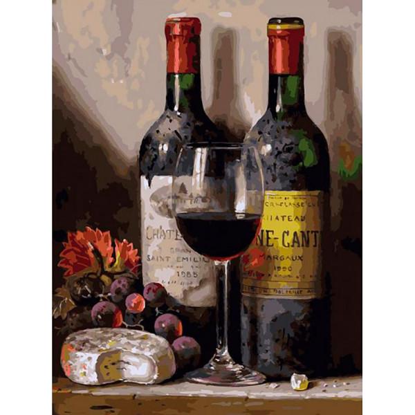 "Картина по номерам ""Вино, сыр и виноград"""