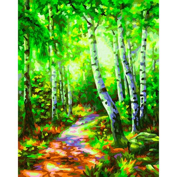 """Картина по номерам """"Березовый лес"""""""
