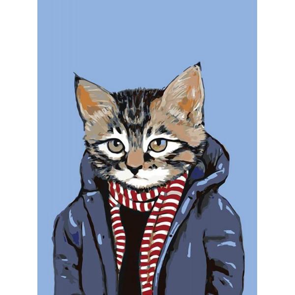 """Картина по номерам """"В теплой куртке"""""""
