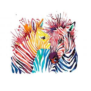 """Картина по номерам """"Акварельные зебры"""""""