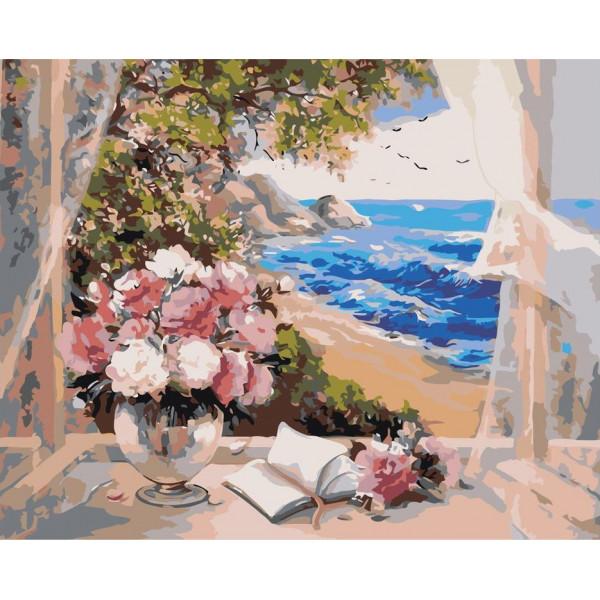 """Картина по номерам """"Вид из окна на море"""""""