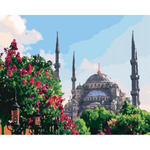 """Картина по номерам """"Мечеть в саду"""""""