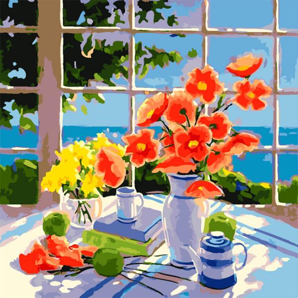 "Картина по номерам ""Завтрак на веранде"""