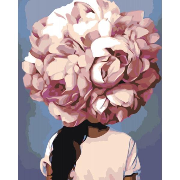 """Картина по номерам """"Девушка в цветах"""""""