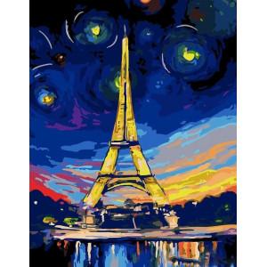 """Картина по номерам """"Эйфелева башня"""""""
