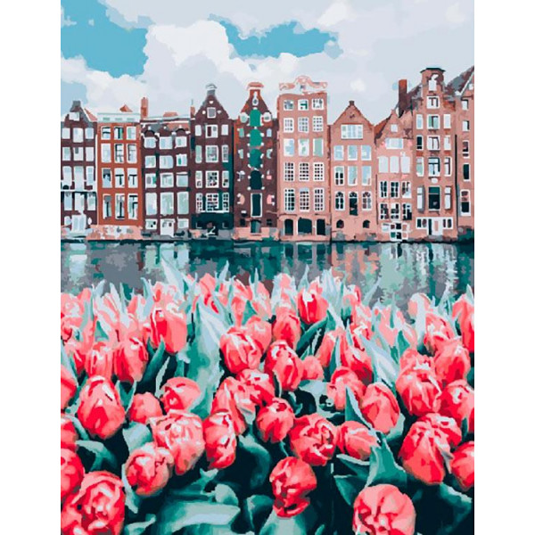 "Картина по номерам ""Весенний Амстердам"""
