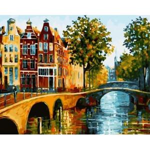 """Картина по номерам """"Улицы Амстердама"""""""