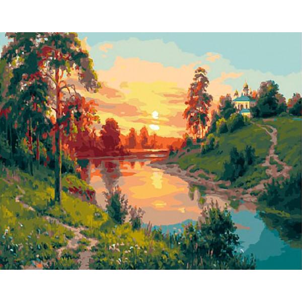 "Картина по номерам ""Вечерний пейзаж"""