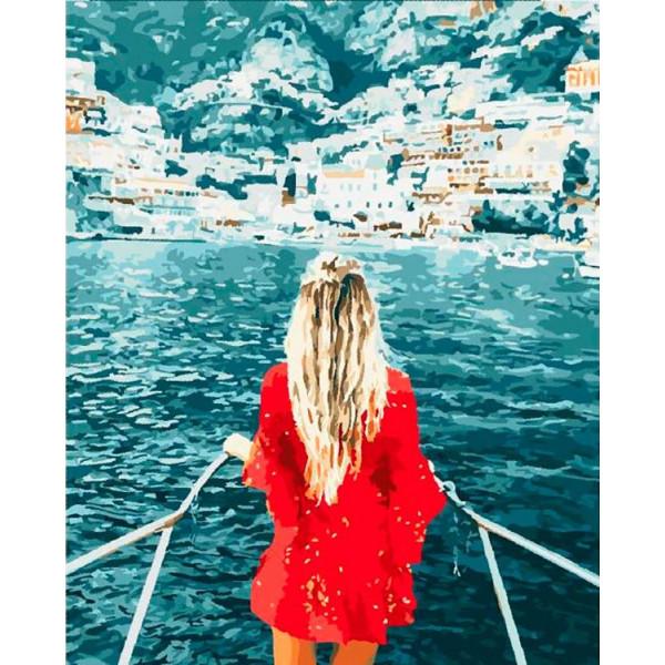 "Картина по номерам ""Блондинка у моря"""