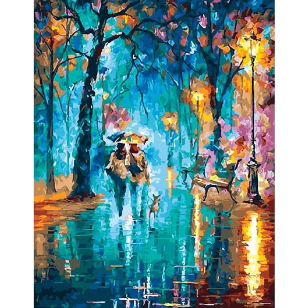 "Картина по номерам ""Вечерний дождь"""