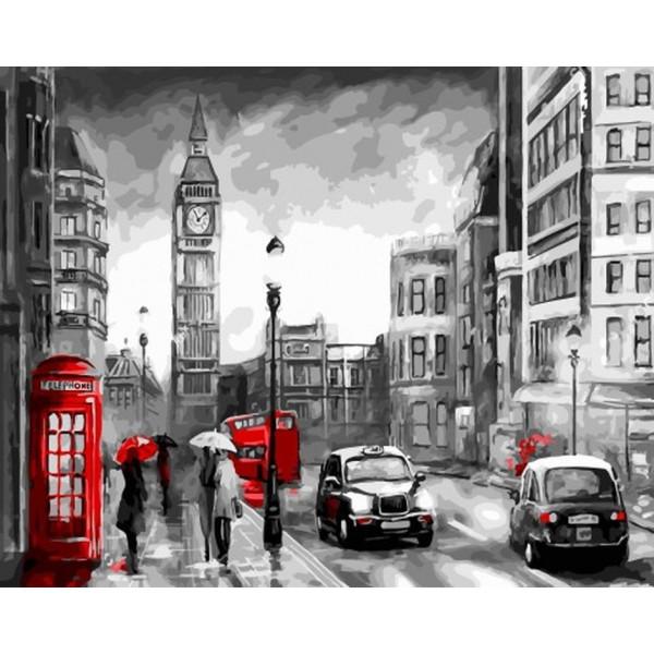 """Картина по номерам """"Дождливый Лондон"""""""