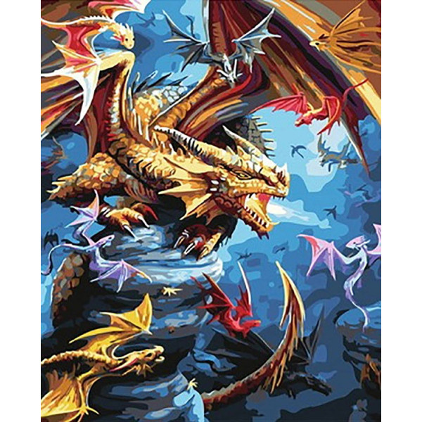 "Картина по номерам ""Драконье царство"""