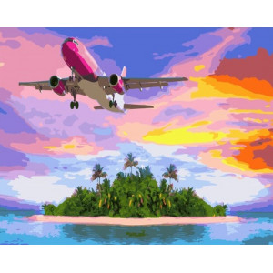 """Картина по номерам """"Полет над островом"""""""