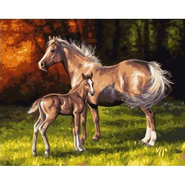 """Картина по номерам """"Ветер в гривах лошадей"""""""