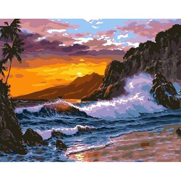"Картина по номерам ""Бушующее море"""