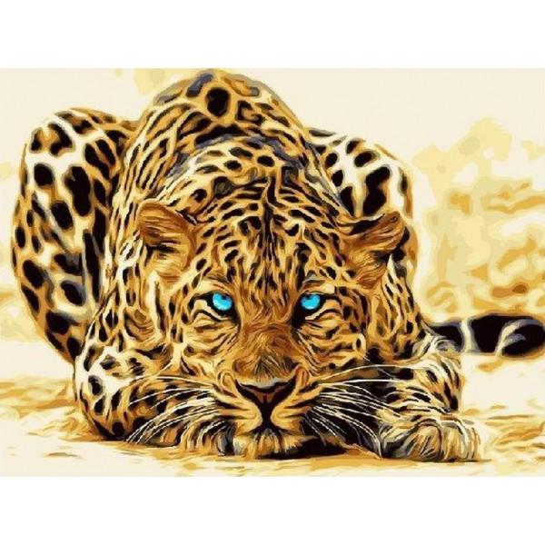 """Картина по номерам """"Абстрактный леопард"""""""