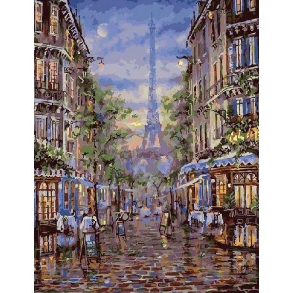 """Картина по номерам """"Вечерний Париж"""""""