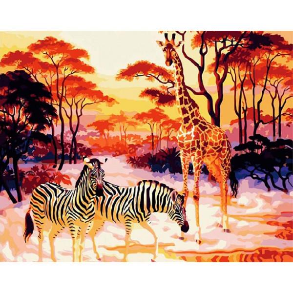 """Картина по номерам """"В африканской саванне"""""""