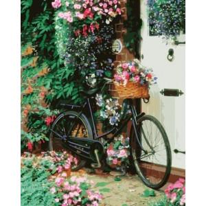 """Картина по номерам """"Велосипед с цветами"""""""