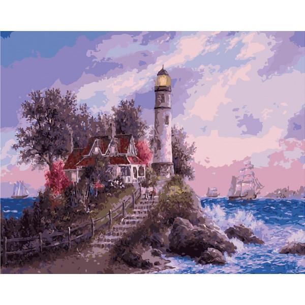 """Картина по номерам """"Волшебный маяк"""""""
