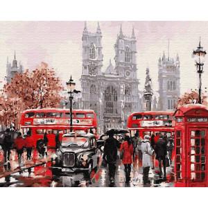 "Картина по номерам ""Лондонский транспорт"""