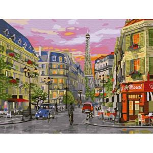 "Картина по номерам ""Парижская улица"""