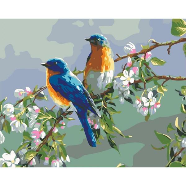 """Картина по номерам """"Весенние птицы"""""""