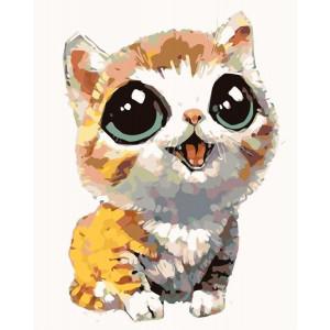 """Картина по номерам """"Большеглазый котёнок"""""""