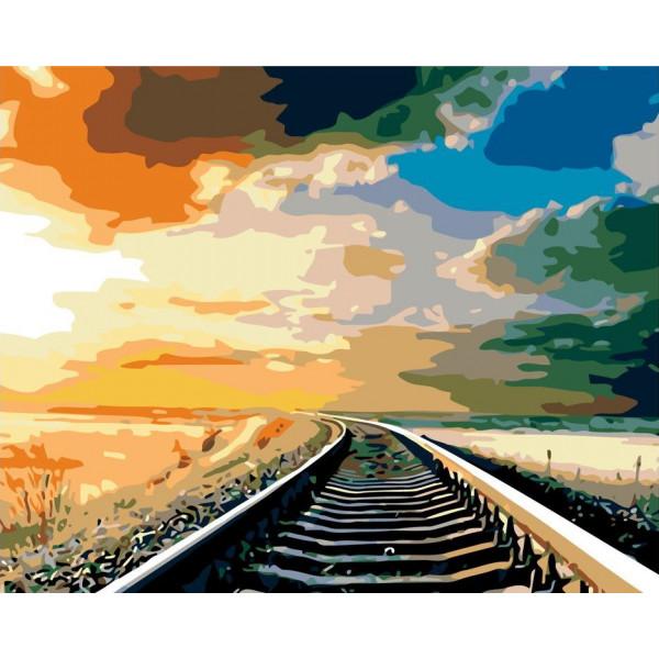 """Картина по номерам """"Железная дорога"""""""