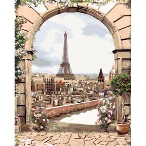 "Картина по номерам ""Вид из арки"""