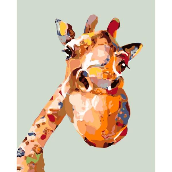 "Картина по номерам ""Веселый жираф"""