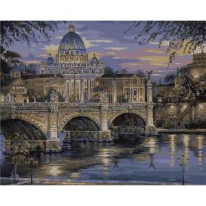 "Картина по номерам ""Вечерний Ватикан"""