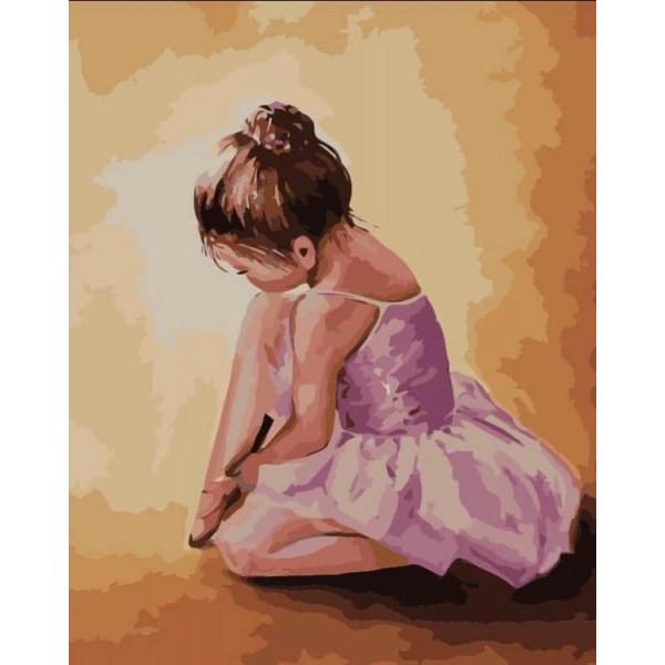 """Картина по номерам """"Балерина-малышка"""""""