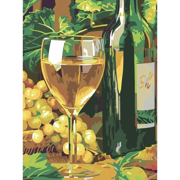 """Картина по номерам """"Белое вино"""""""